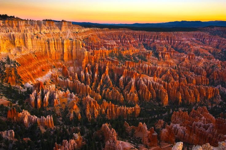 bryce canyon auringonnousuun